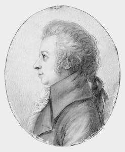 Silberstiftzeichnung Dorothea Stock Mozart
